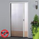 Moustiquaire Porte en aluminium blanc
